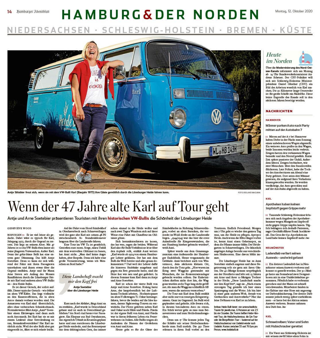 Hamburger Abendblatt - Wenn der 47 Jahre alte Karl auf Tour geht